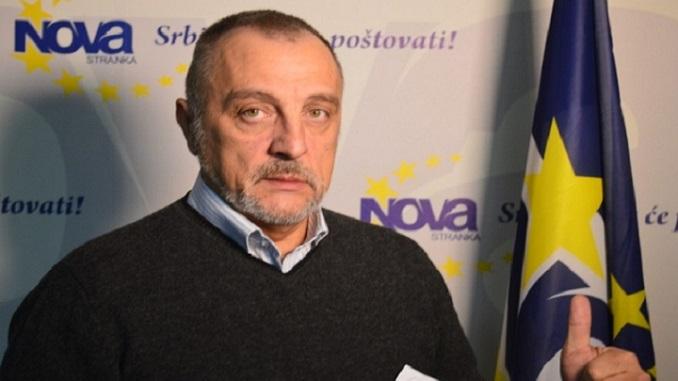 Živković: Više neću biti predsednik Nove stranke