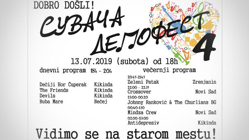 """U subotu 13. jula """"Četvrti Suvača demo fest"""" u Kikindi"""