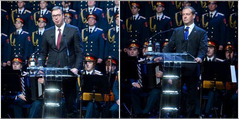 Vučić: Nema poluslobode, polunezavisnosti i polusamostalnosti; Medvedev: Oslobođenje Beograda svi zajedno slavimo