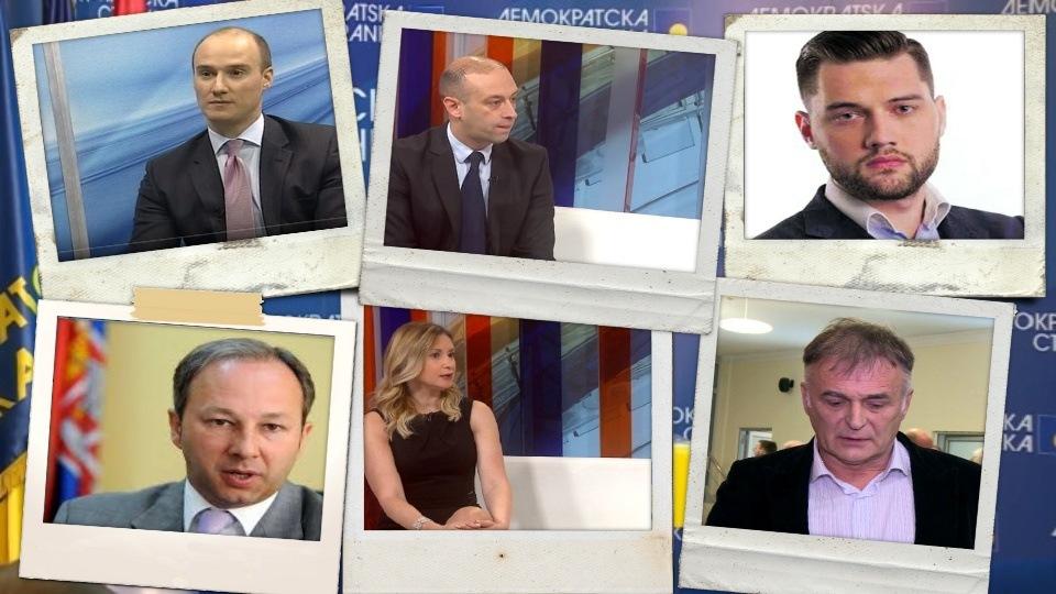 Raspušteni Gradski odbor DS Beograd i Demokratska omladina. Deo članova napustio sednicu