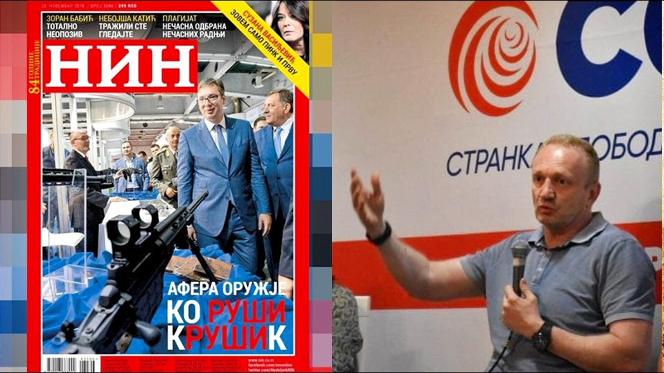 Vučić: Naslovnu stranu NIN-a osmislio Đilas; Brkić je reketaš koji u Tabloidu ne napada SPS