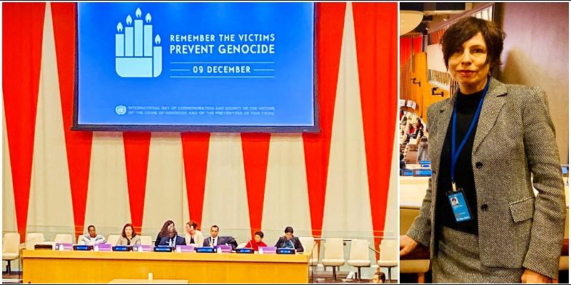 Glavna predstavnica IFIMES-a pri ECOSOC/UN  Irena Mernik Knee na godišnjici Konvencije o genocidu