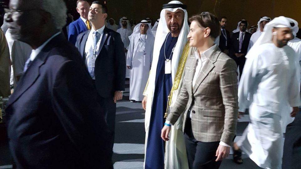 Ana Brnabić sa šeikom Muhamedom bin Zajedom u Abu Dabiju
