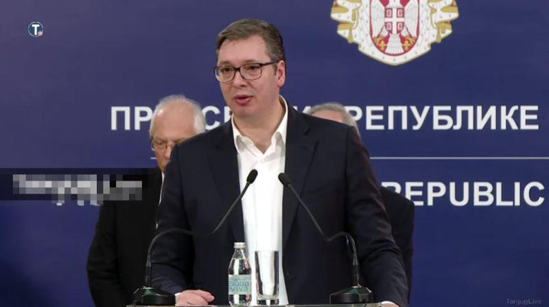 Vučić otkazao sve predizborne skupove SNS-a do 1. aprila