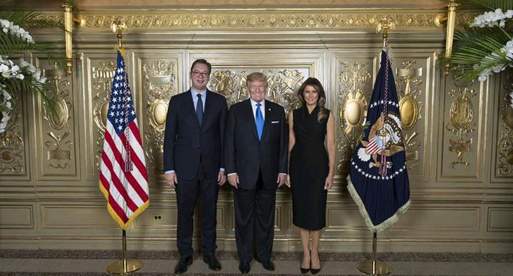 AP: Vučić pružio otvorenu podršku Trampu